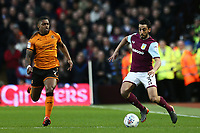 Neil Taylor of Aston Villa takes on Ivan Cavaleiro of Wolverhampton Wanderers<br /> <br /> Photographer Leila Coker/CameraSport<br /> <br /> The EFL Sky Bet Championship - Aston Villa v Wolverhampton Wanderers - Saturday 10th March 2018 - Villa Park - Birmingham<br /> <br /> World Copyright &copy; 2018 CameraSport. All rights reserved. 43 Linden Ave. Countesthorpe. Leicester. England. LE8 5PG - Tel: +44 (0) 116 277 4147 - admin@camerasport.com - www.camerasport.com