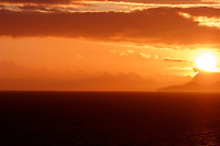 Summer landscape of sunset over Fairweather Mountain range and Glacier Bay in Glacier Bay National Park in Southeast, Alaska     <br /> <br /> (C) Jeff Schultz/SchultzPhoto.com