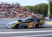 Jun 10, 2017; Englishtown , NJ, USA; NHRA funny car driver Matt Hagan during qualifying for the Summernationals at Old Bridge Township Raceway Park. Mandatory Credit: Mark J. Rebilas-USA TODAY Sports