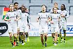 Solna 2015-07-26 Fotboll Allsvenskan AIK - IF Elfsborg :  <br /> AIK:s Nils-Eric Johansson och Stefan Ishizaki v&auml;rmer upp med lagkamrater inf&ouml;r matchen mellan AIK och IF Elfsborg <br /> (Foto: Kenta J&ouml;nsson) Nyckelord:  AIK Gnaget Friends Arena Allsvenskan Elfsborg IFE