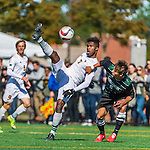 3 October 2015: University of Vermont Catamount Forward Brian Wright, a Junior from Ajax, Ontario, in action against the Binghamton University Bearcats at Virtue Field in Burlington, Vermont. The Catamounts were unable to complete a late game rally, falling to the Bearcats 2-1 in America East conference play. Mandatory Credit: Ed Wolfstein Photo *** RAW (NEF) Image File Available ***