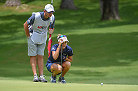 Lexi Thompson (USA) lines up her putt on 10 during round 2 of the U.S. Women's Open Championship, Shoal Creek Country Club, at Birmingham, Alabama, USA. 6/1/2018.<br /> Picture: Golffile | Ken Murray<br /> <br /> All photo usage must carry mandatory copyright credit (&copy; Golffile | Ken Murray)