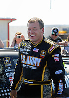 Apr 25, 2009; Talladega, AL, USA; NASCAR Sprint Cup Series driver Ryan Newman during qualifying for the Aarons 499 at Talladega Superspeedway. Mandatory Credit: Mark J. Rebilas-