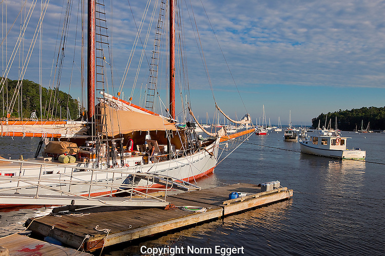 Schooner Docked Late Afternoon in Rockport Harbor