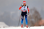 Olga Kuziukova in action during the Women 5 km Classic Individual in Val Di Fiemme<br /> <br /> &copy; Pierre Teyssot