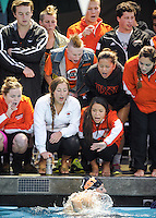2015 SCIAC Swimming and Diving Championships at Whittier College, Feb. 21, 2015.<br />