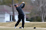 WILMINGTON, NC - MARCH 19: Kent State's Bjarki Petursson (ISL) tees off on the Ocean Course ninth hole. The first round of the 2017 Seahawk Intercollegiate Men's Golf Tournament was held on March 19, 2017, at the Country Club of Landover Nicklaus Course in Wilmington, NC.