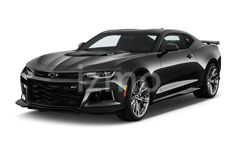 2018 Chevrolet Camaro ZL1 2 Door Coupe Angular Front stock photos of front three quarter view