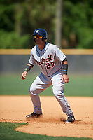 Detroit Tigers Gresuan Silverio (27) during a Minor League Spring Training game against the New York Yankees on March 21, 2018 at the New York Yankees Minor League Complex in Tampa, Florida.  (Mike Janes/Four Seam Images)