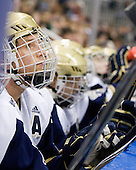 Calle Ridderwall (Notre Dame - 22) - The University of Notre Dame Fighting Irish defeated the University of New Hampshire Wildcats 2-1 in the NCAA Northeast Regional Final on Sunday, March 27, 2011, at Verizon Wireless Arena in Manchester, New Hampshire.
