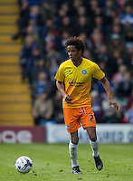 Sido Jombati of Wycombe Wanderers in action during the Sky Bet League 2 match between Portsmouth and Wycombe Wanderers at Fratton Park, Portsmouth, England on 23 April 2016. Photo by Andy Rowland.