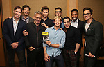 Brian Hutchison, Tuc Watkins, Joe Mantello, Andrew Rannells, Charlie Carver, Zachary Quinto, Robin De Jesus, Michael Benjamin Washington and Matt Bomer attend Broadway's 'Boys in the Band' hosted Midnight Performance of 'Three Tall Women' to Honor Director Joe Mantello at the Golden Theatre on May 17, 2018 in New York City.