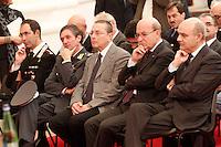 MANIFESTAZION ANTI RACKET CON IL CAPO DELLA POLIZIA .NELLA FOTO DA SX  MINICHINI      COLANGELO, MEROLLA, MUSSOLINO...FOTO CIRO DE LUCA.