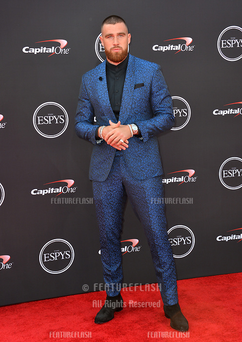 Travis Kelce at the 2018 ESPY Awards at the Microsoft Theatre LA Live, Los Angeles, USA 18 July 2018<br /> Picture: Paul Smith/Featureflash/SilverHub 0208 004 5359 sales@silverhubmedia.com