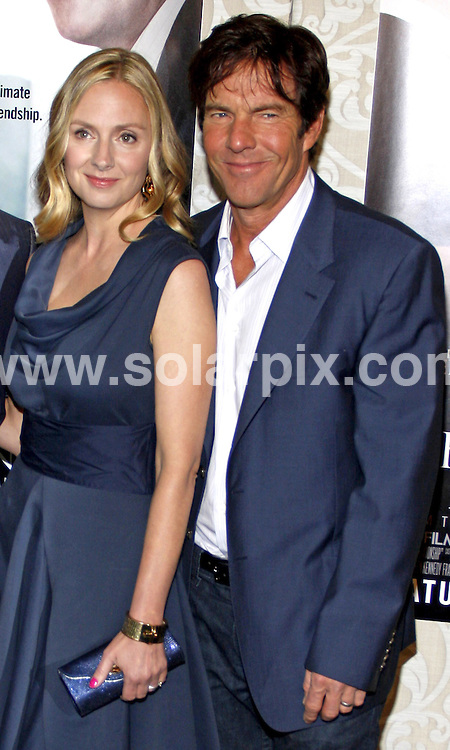 **ALL ROUND PICTURES FROM SOLARPIX.COM**.**SYNDICATION RIGHTS FOR UK, AUSTRALIA, DENMARK, PORTUGAL, S. AFRICA, SPAIN & DUBAI (U.A.E) & ASIA (EXCLUDING JAPAN) ONLY**.The Special Relationship Los Angeles Premiere - Arrivals, Directors Guild of America, Hollywood, CA, USA, 19 May 2010.This pic: Dennis Quaid and Hope Davis.JOB REF: 11285  PHZ gabber    DATE: 19_05_2010 .**MUST CREDIT SOLARPIX.COM OR DOUBLE FEE WILL BE CHARGED**.**MUST NOTIFY SOLARPIX OF ONLINE USAGE**.**CALL US ON: +34 952 811 768 or LOW RATE FROM UK 0844 617 7637**