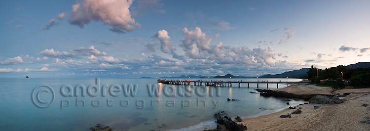 Palm Cove jetty at twilight.  Palm Cove, Cairns, Queensland, Australia