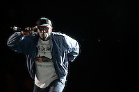 LOS ANGELES,CA - AUGUST 09,2008: Tribe Called Quest performs during Rock the Bells concert. Glen Helen Pavilion was filled with hip hop fans August 9, 2008 for Rock the Bells concert.
