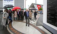 10th October 2019 | Syd Millar Pathway<br /> <br /> Syd Millar during the official opening of the Syd Millar Pathway at Kingspan Stadium, Ravenhill Park, Belfast, Northern Ireland. Photo by John Dickson / DICKSONDIGITAL