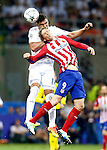 Real Madrid's Carlos Henrique Casemiro (l) and Atletico de Madrid's Fernando Torres during UEFA Champions League 2015/2016 Final match.May 28,2016. (ALTERPHOTOS/Acero)