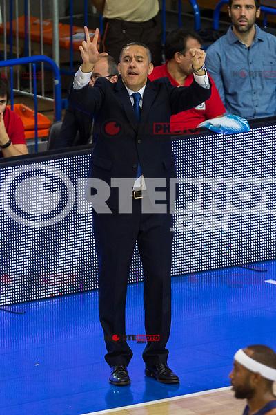 Montakit Fuenlabrada's Jos? Ram?n Cuspinera Di?guez  during the match of Endesa ACB League between Fuenlabrada Montakit and FC Barcelona Lassa at Fernando Martin Stadium in fuelnabrada,  Madrid, Spain. October 30, 2016. (ALTERPHOTOS/Rodrigo Jimenez) /NORTEPHOTO.COM