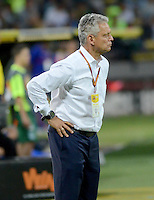 MEDELLÍN -COLOMBIA-05-08-2015: Reinaldo Rueda técnico de Atlético Nacional durante partido con Deportivo Pasto por la fecha 5 de la Liga Aguila II 2015 jugado en el estadio Atanasio Girardot de la ciudad de Medellín./ Reinaldo Rueda coach of Atletico Nacional during the match against Deportivo Pasto for the  5th date of the Aguila League II 2015 at Atanasio Girardot stadium in Medellin city. Photo: VizzorImage/León Monsalve/ Cont