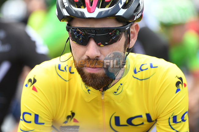 Race leader yellow jersey Thomas De Gendt (BEL) Lotto-Soudal at sign on before the start of Stage 3 of the Criterium du Dauphine 2017, running 184km from Chambon-sur-Lignon to Tullins, France. 6th June 2017. <br /> Picture: ASO/A.Broadway | Cyclefile<br /> <br /> <br /> All photos usage must carry mandatory copyright credit (&copy; Cyclefile | ASO/A.Broadway)