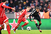 December 5th 2017, Allianze Arena, Munich, Germany. UEFA Champions league football, Bayern Munich versus Paris St Germain;  KYLIAN MBAPPE (psg) breaks through the defense