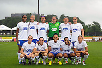 Boston Breakers starting eleven. Sky Blue FC and the Boston Breakers played to a 0-0 tie during a National Women's Soccer League (NWSL) match at Yurcak Field in Piscataway, NJ, on July 13, 2013.