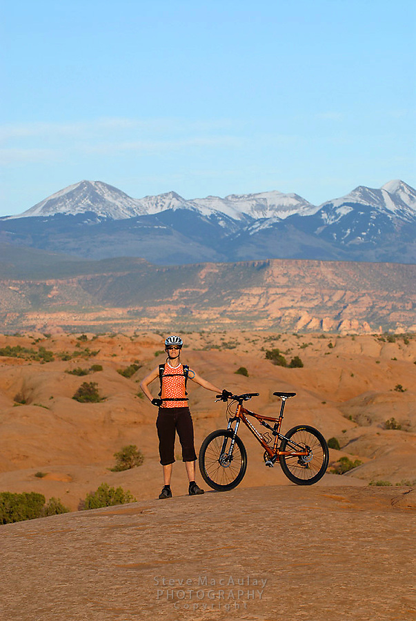 "Mountain biking on the ""Slickrock Trail"", Moab, Utah"