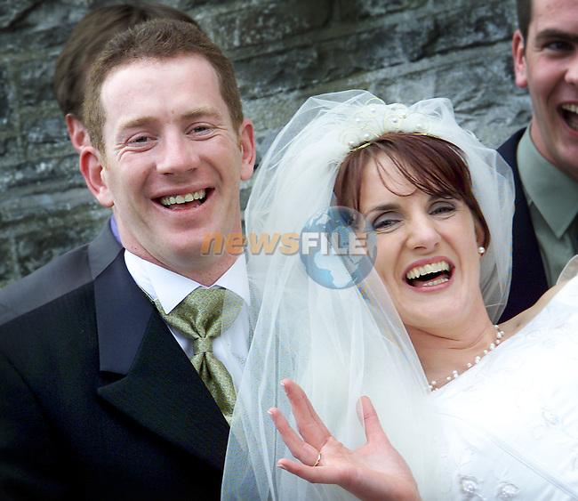 Meath player Donal Curtis who got married on Saturday in Kentstown to Annmarie Hussey..Picture: Paul Mohan/Newsfile