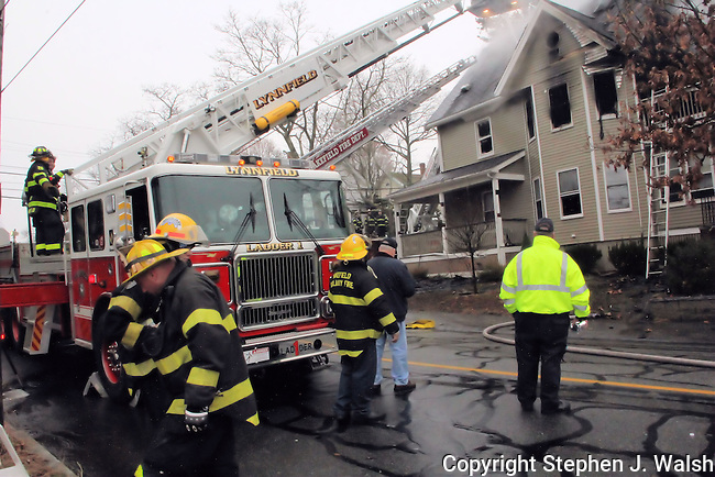 3 alarm fire Wakefiild, MA 52 Lake Street morning of December 2, 2012. 2.5 story wood frame.