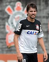 SÃO PAULO,SP, 02.09.2013 TREINO/CORINTHIANS/SP -  Paulo Andre durante treino do Corinthians no CT Joaquim Grava na zona leste de Sao Paulo. (Foto: Alan Morici /Brazil Photo Press).