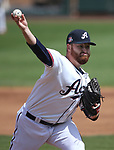 Reno Aces's Jake Buchanan pitches against the Fresno Grizzlies in Reno, Nev., on Monday, April 9, 2018. <br /> Photo by Cathleen Allison/Nevada Momentum