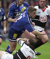 24/05/2002.Sport - Rugby Union - Parker Pen Shield Final..Mel Deane, breaks from the ruck..   [Mandatory Credit, Peter Spurier/ Intersport Images].