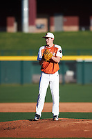 Colton Bowman (13) of Bullard High School in Bullard, Texas during the Baseball Factory All-America Pre-Season Tournament, powered by Under Armour, on January 13, 2018 at Sloan Park Complex in Mesa, Arizona.  (Zachary Lucy/Four Seam Images)