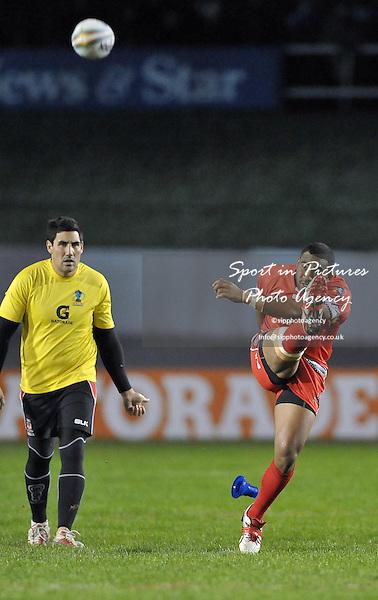 Samisoni Langi (Tonga)   - PHOTO: Mandatory by-line: Garry Bowden/SIPPA/Pinnacle - Photo Agency UK Tel: +44(0)1363 881025 - Mobile:0797 1270 681 - VAT Reg No: 768 6958 48 - 29/10/2013 - Rugby League World Cup 2013, Tonga v Scotland, Derwent Park, Workington, Cumbria, England