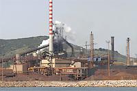 - Lucchini Group steel mill in Piombino....- acciaieria Gruppo Lucchini a Piombino