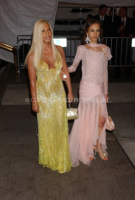 WWW.ACEPIXS.COM . . . . . ....NEW YORK, MAY 2, 2005....Donatella Versace and Allegra Versace exiting The Costume Institute Gala Celebrating Chanel at the Metropolitan Museum of Art.....Please byline: KRISTIN CALLAHAN - ACE PICTURES.. . . . . . ..Ace Pictures, Inc:  ..Craig Ashby (212) 243-8787..e-mail: picturedesk@acepixs.com..web: http://www.acepixs.com