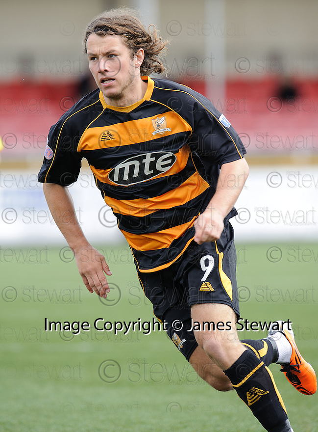 Alloa's Stevie May. On loan from St Johnstone.