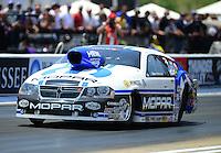 Jun. 16, 2012; Bristol, TN, USA: NHRA pro stock driver Allen Johnson during qualifying for the Thunder Valley Nationals at Bristol Dragway. Mandatory Credit: Mark J. Rebilas-