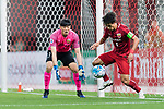 Shanghai FC Defender Wang Shenchao (R) and Shanghai FC Goalkeeper Yan Junling (L) during the AFC Champions League 2017 Round of 16 match between Shanghai SIPG FC (CHN) vs Jiangsu FC (CHN) at the Shanghai Stadium on 24 May 2017 in Shanghai, China. Photo by Marcio Rodrigo Machado / Power Sport Images