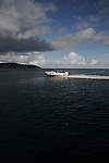 Palau, Micronesia -- Speed boat in Palauan waters.