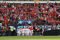 BOGOTA - COLOMBIA, 28-01-2018:Independiente Santa Fe y América de Cali por la final de la Copa Fox Sports 2018 jugada en el estadio Nemesio Camacho El Campin de la ciudad de Bogotá. / :Independiente Santa Fe and América de Cali for the final of the Fox Sports Cup 2018 played at the Nemesio Camacho Stadium The Campin of the city of Bogotá played at the Nemesio Camacho stadium El Campin in the city of Bogotá. Photo: VizzorImage / Felipe Caicedo / Staff.