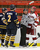Mike Dalhuisen (Quinnipiac - 2), Glen Cooke, Danny Biega (Harvard - 9) - The visiting Quinnipiac University Bobcats defeated the Harvard University Crimson 3-1 on Wednesday, December 8, 2010, at Bright Hockey Center in Cambridge, Massachusetts.