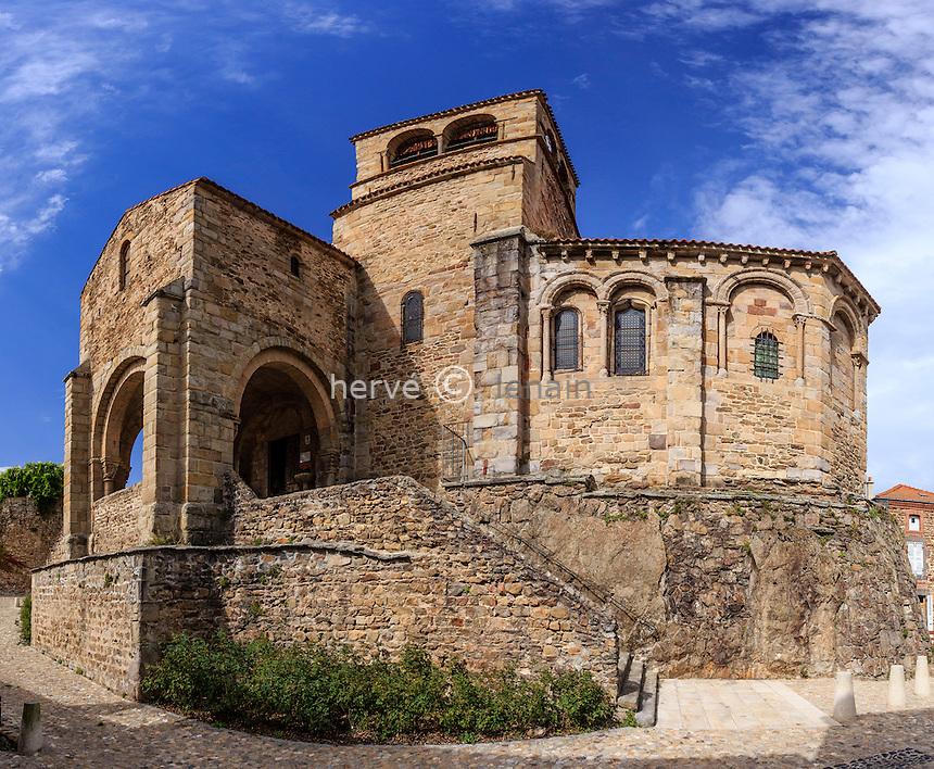 France, Haute-Loire (43), Auzon, l'église Saint-Laurent d'Auzon // France, Haute Loire, Auzon, church Saint Laurent