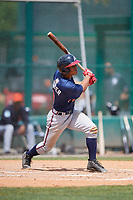 Atlanta Braves Ray-Patrick Didder (9) during a minor league Spring Training game against the Detroit Tigers on March 25, 2017 at ESPN Wide World of Sports Complex in Orlando, Florida.  (Mike Janes/Four Seam Images)