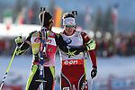 IBU Biathlon World Cup<br /> <br /> Martin Fourcade, Emil Hegle Svendsen<br /> <br /> <br /> &copy; Pierre Teyssot<br />  Martin Fourcade, Emil Hegle Svendsen