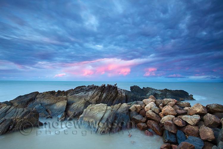 Dawn over the Coral Sea at Yorkeys Knob, Cairns, Queensland, Australia