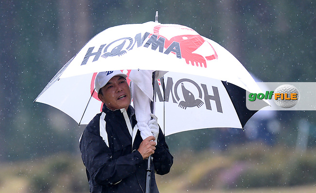 Lianwei Zhang of China looks on during the Second Round of The Senior Open at Sunningdale Golf Club, Sunningdale, England. Picture: Golffile | Richard Martin-Roberts<br /> All photo usage must carry mandatory copyright credit (&copy; Golffile | Richard Martin- Roberts)