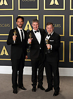 09 February 2020 - Hollywood, California -   Dominic Tuohy, Guillaume Rocheron, Greg Butler attend the 92nd Annual Academy Awards presented by the Academy of Motion Picture Arts and Sciences held at Hollywood & Highland Center. Photo Credit: Theresa Shirriff/AdMedia